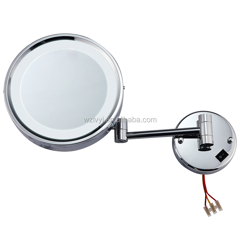 LY-1807D wall-mounted beauty mirror cosmetic mirror with LED lamp