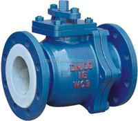 Chlorine service rubber lined ball valve DN40 1.75 INCH