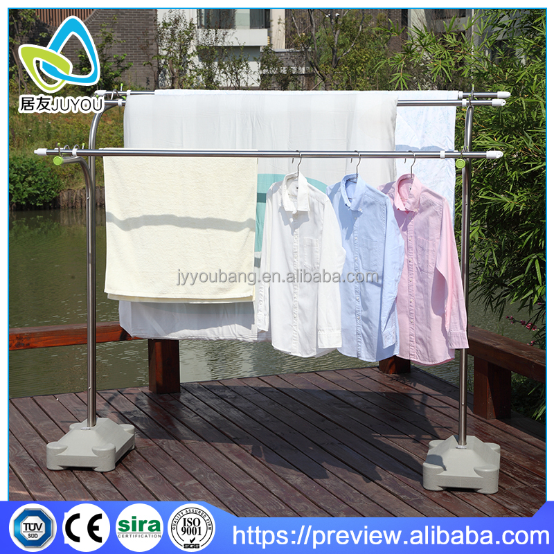 Outdoor garden or balcony hanging clothes drying pole
