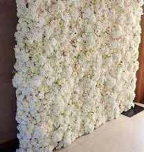 3ft x 6ft Finished Ombre Rose Flower Wall for Wedding