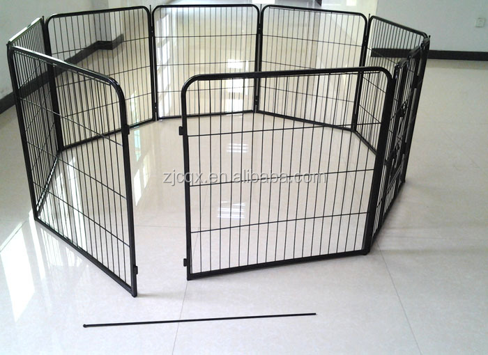 "18"" 24"" 30"" 36"" 42"" 48"" folding 8 pannels pet fence pet cage puppy playpen"