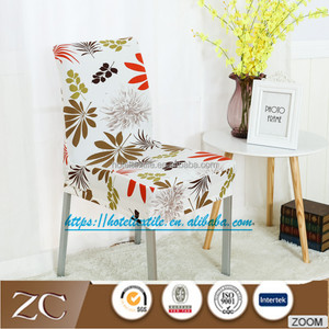 Home dining chair cover hotel lycra wedding spandex stretch chair cover with pattern for party