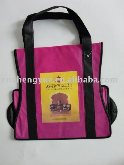 ECO friendly custom non woven folding shopping bag