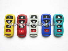 4 button colourful remote flip car key shell for Nissan coloured key cover