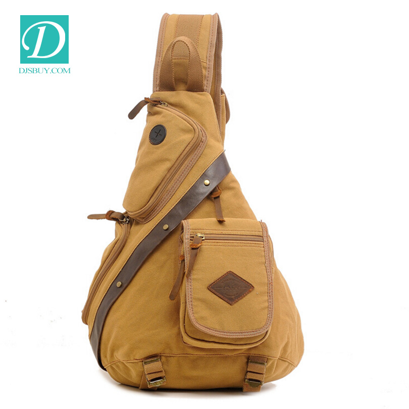 Canvas Chest One Sling Shoulder Man Casual Travel Military Messenger Bag