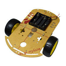 Intelligent Diy Model Car Toy Car Chassis For sale Kit New 2WD Smart Motor Robot Battery Box Speed Encoder