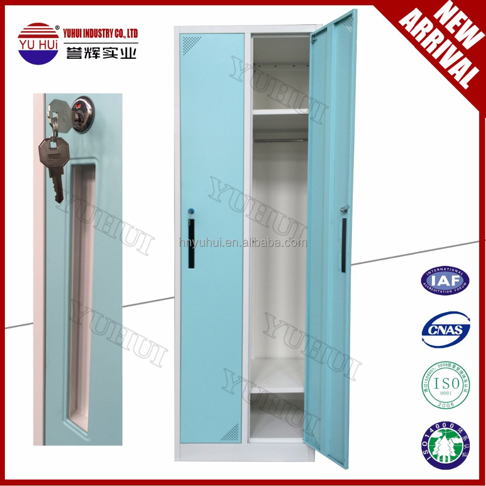 2 door clothing steel locker wardrobe double door steel for Locker loop dress shirt