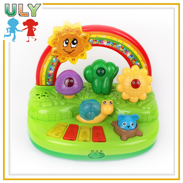 2015 top sale new fashion crazy interlocking kids plastic piano toys musical toy for kids gardener organ