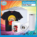 Top selling custom heat t-shirt transfer paper high quality printing sublimation paper
