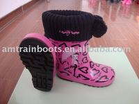 cute children' rubber rain boots