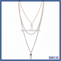 Europe and the United States hot sell charming mother's jewelry pendant elegant double infinity chains necklace