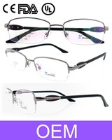 High Quality Fashion Design silver clolor stainless steel diamond Optical Glasses for women