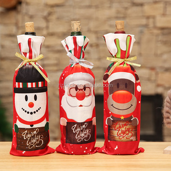 Christmas Sweater Wine Bottle Cover New Design Wine Bottle Sweater Santa Wine Bottle Dress Sets for Christmas
