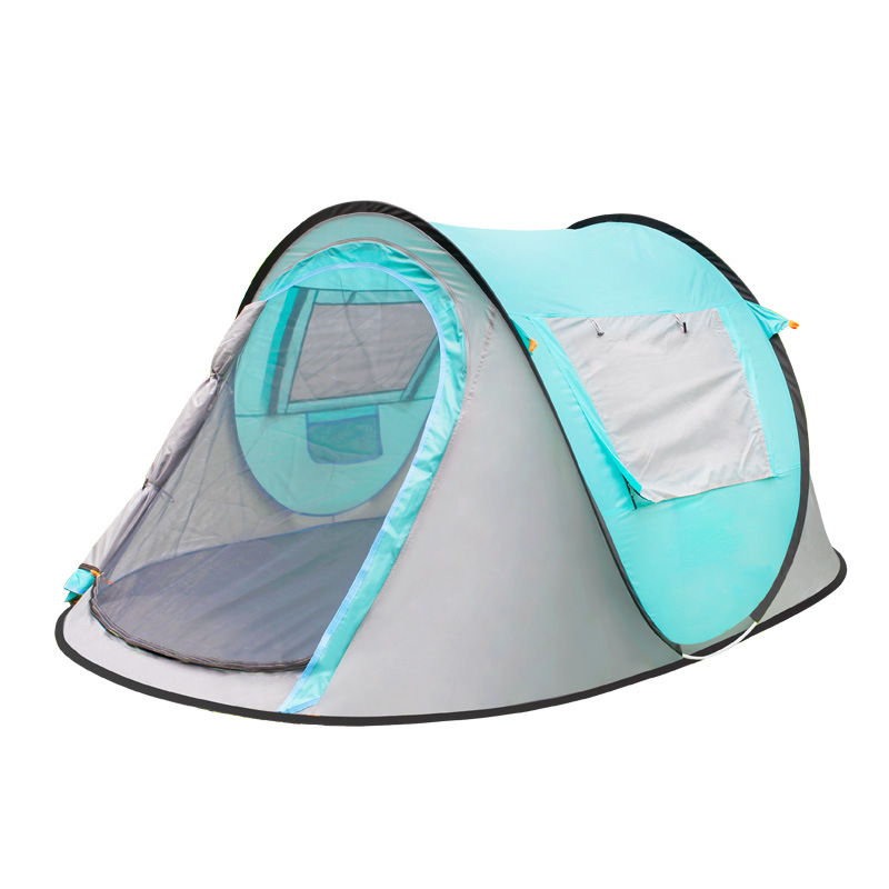 Pop Up Camping Tent Automatic Instant Setup Dome Waterproof Backpacking Tents for 3-4 Person Portable automatic camping tent