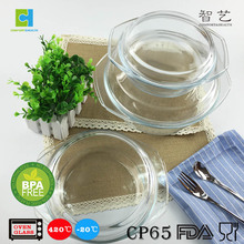 High quality transparent clear glass cooking pot