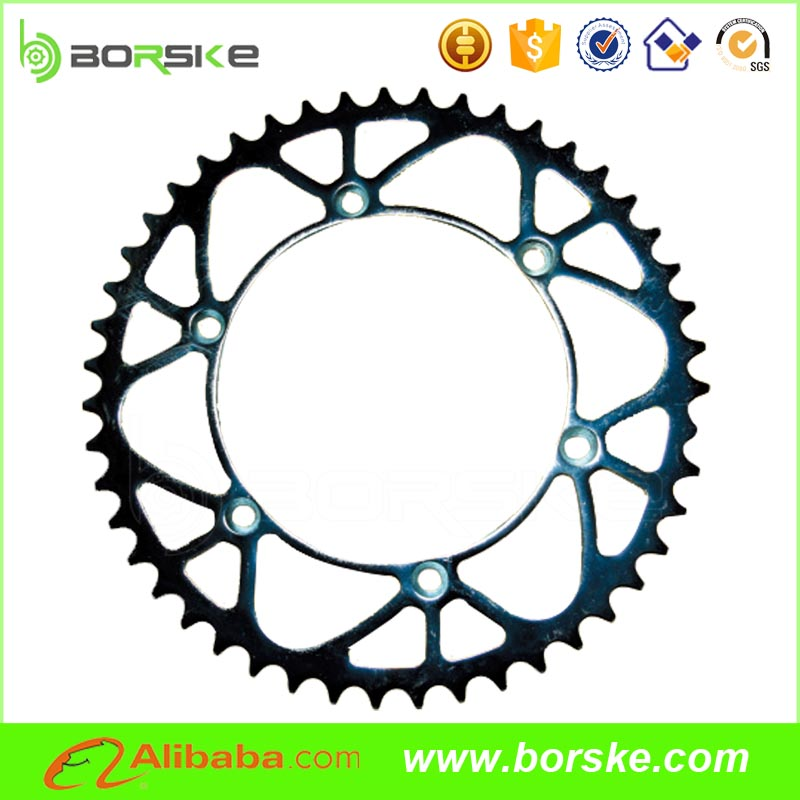 Hot sale 47T Aluminium7075-T6 Motorcycle front Sprocket wheel, chain and sprocket set for motorcycles and Dirt bikes
