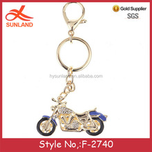 F-2740new fashion gift custom motorcycle diamond keychain wholesale mental key ring