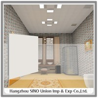 Widely used for bathroom the elegant anti-oil integrated tiles type of roofing sheets