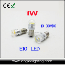 E10 1W Indicator LED Bulb For Machine and RV 10-30VDC