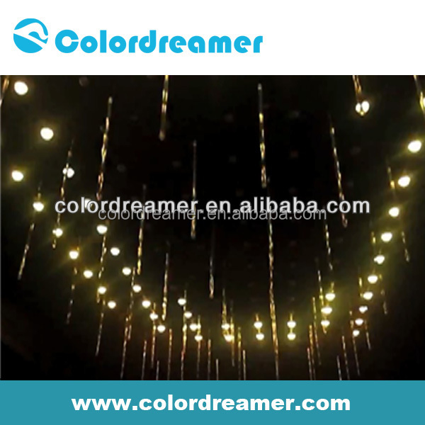 3d vertical tube,video falling star led club lighting/dmx 3d tube lighting