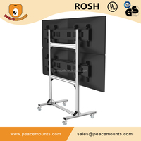Universal High quality vesa 4 screens lcd led moveable video wall tv lift mechanism