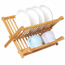 Bamboo Dish Rack, Holding Plate Holder, Cup Drying Strainer
