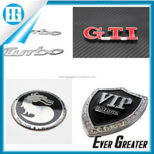 Cheap custom chrome metal car emblem factory with 20 years experience