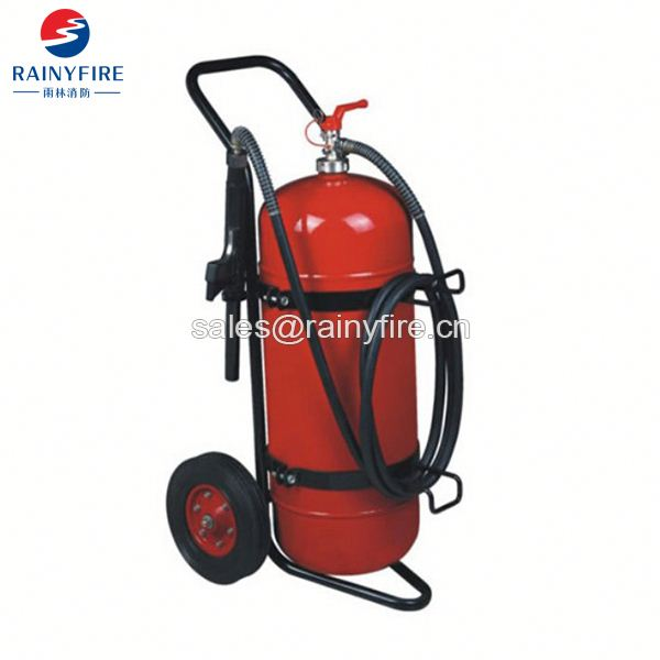 Rainyfire trolley extinguisher portable dry chemical powder fire extinguisher