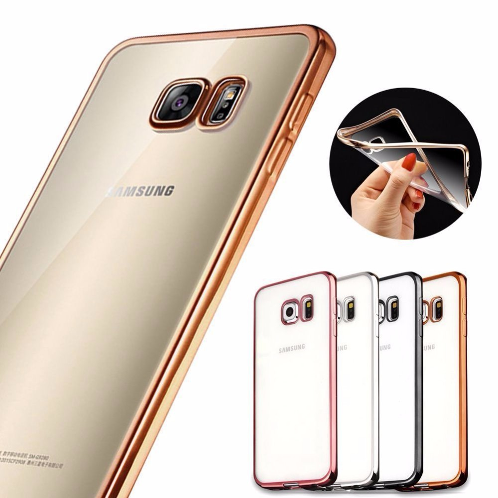 TOP Selling Full Clear Electroplating Case TPU Soft Cover for Samsung Galaxy S8/S8 Plus
