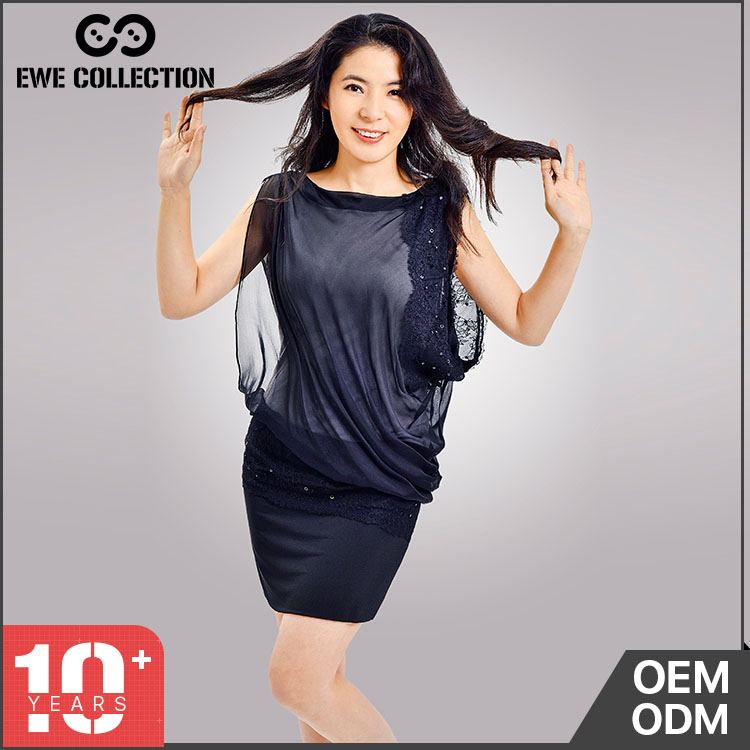 Free sample The new model casual women sleeveless latest dress designs for fat ladies