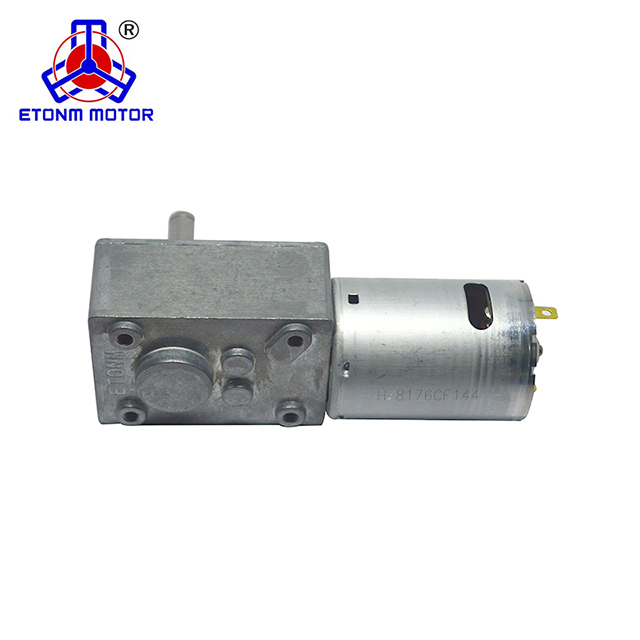ET-WGM58-C Axle low backlash low noise right angle high torque 12v worm gear motor