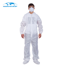 White Disposable Coverall Protective Painting Decorating Coverall Suit