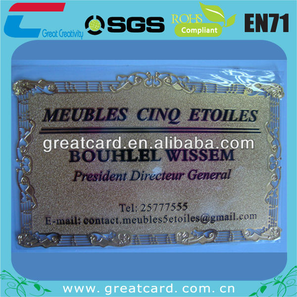 European Style Metal Business Card/metal card