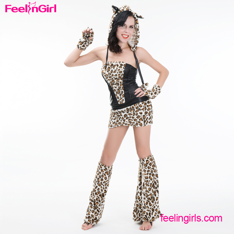 Hot Sale Women Leopard Cosplay Sexy Adult Animal Movie Costume