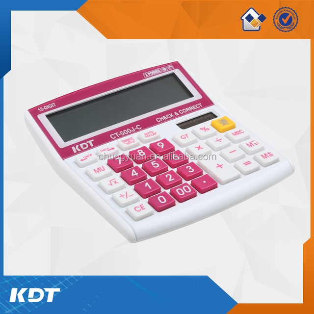 12 digits 99 steps digital check calculator with dual power