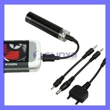 4 cables & car travel charger with AA battery for Nokia adapter