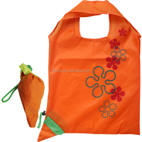 New Style Foldable Polyester Carrot Shopping Bags