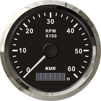 KUS 6000 RPM digital/truck/engine generator tachometer