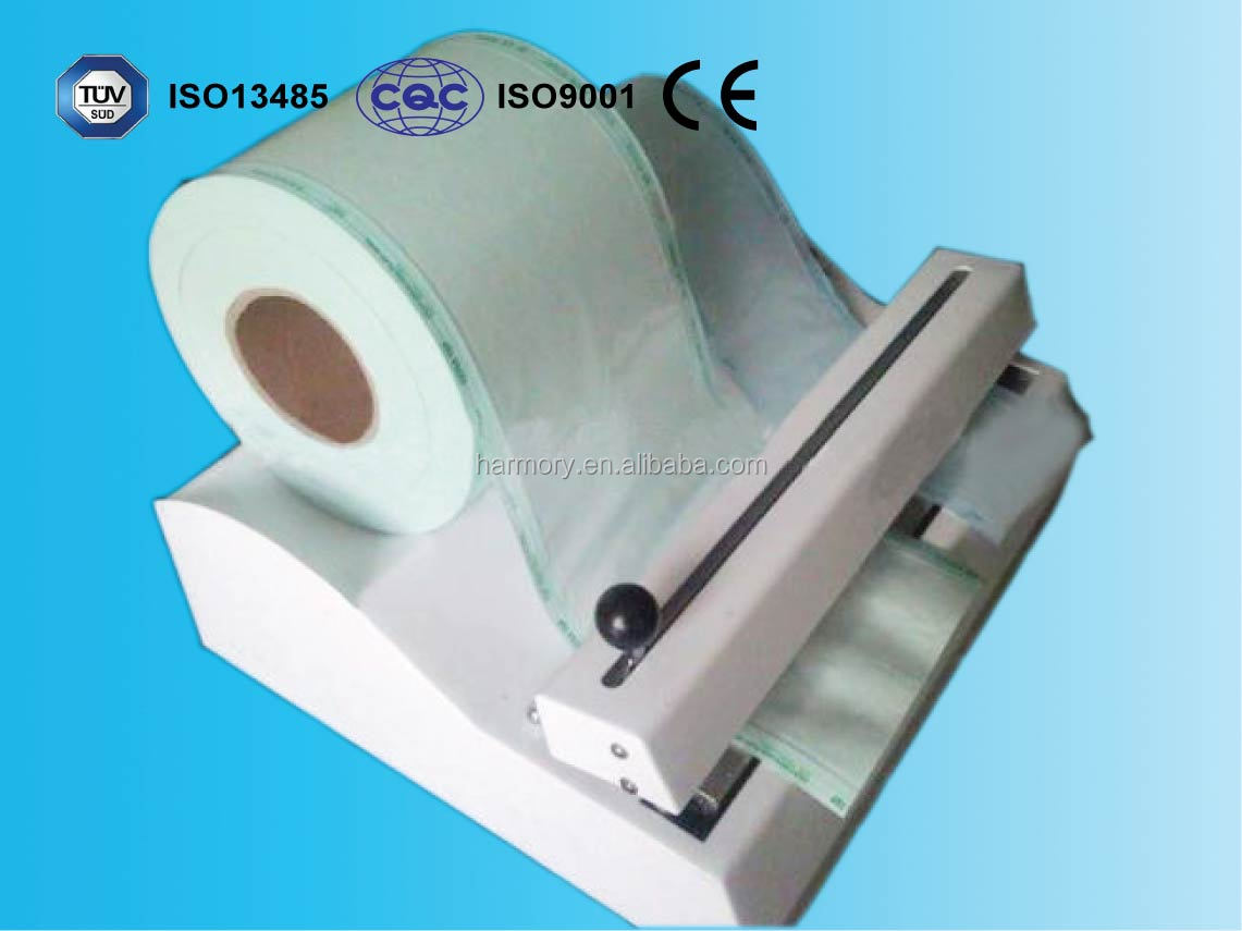 medical flat sterilization reel pouch for CSSD adhesive coated paper+PET/CPP compoiste film