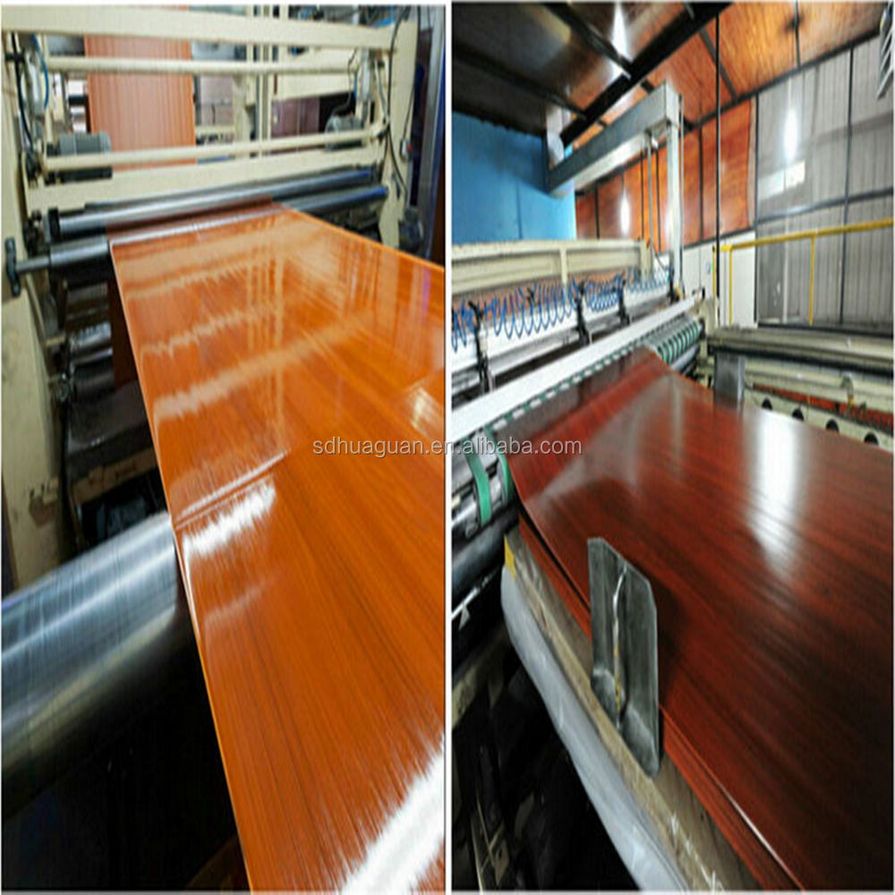 1270*1270mm melamine paper with wood grain design supply shandong wahkoon company