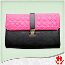 2015 new design handbag for ladies in alibaba china bag quilted leather woman clutch bag with metal lock