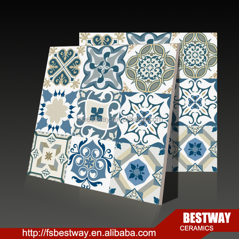 600x600 blue and white porcelain discontinued ceramic floor tile