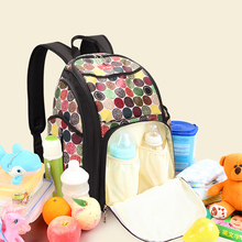 Fashion adult mother care baby printed cloth diaper wet bag with bottle warmer