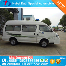 China factory sale brand new Jin Bei 4x2 gasoline ambulance car price