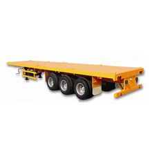 Fuwa Tri axles high bed 50tons 40ft shipping container flatbed semi trailer with twist locks