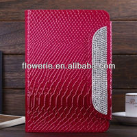 FL2963 2013 Guangzhou new arrival wallet leather flip hand strap case for ipad mini