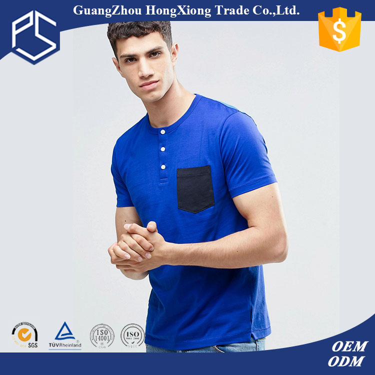 Guangzhou Plain Custom Factory Cheap Round Neck Men Blue Karachi T Shirt Stock