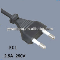 Korean style 2pin approved power cord
