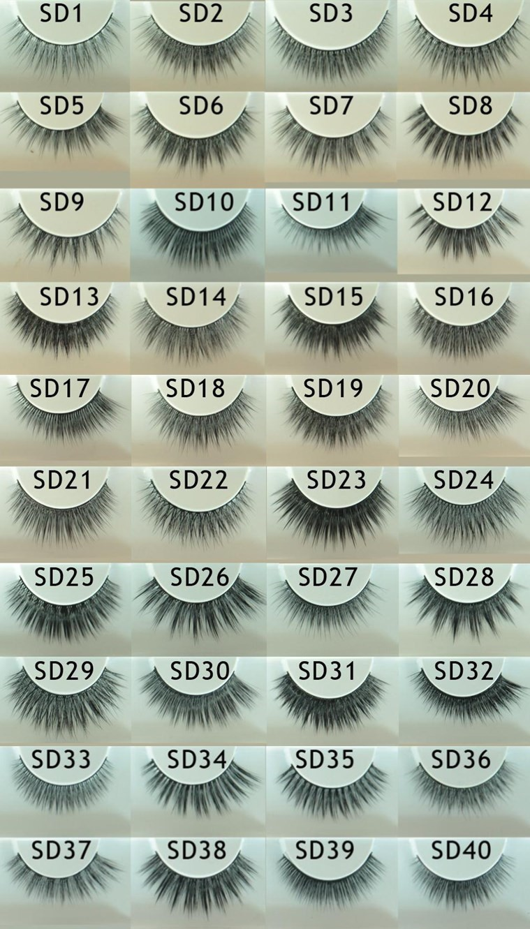 2017 New design 3D silk false eyelash custom box private label free samples