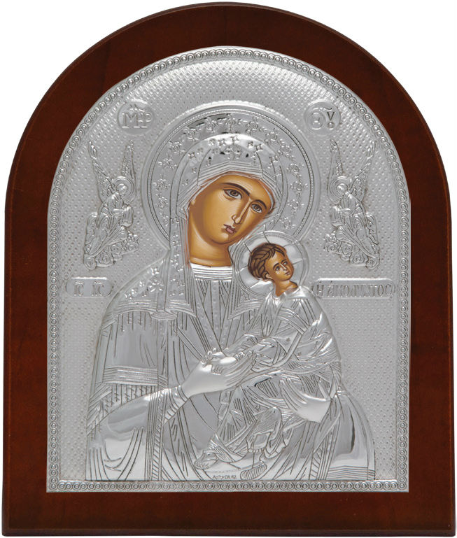Virgin Mary Our Lady of Perpetual Help Icon , Silver 925